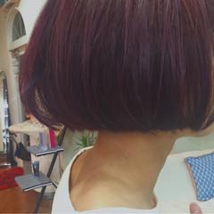 色気 ストリート パープル 秋 ヘアスタイルや髪型の写真・画像