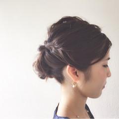 ヘアアレンジ 大人女子 ミディアム 簡単ヘアアレンジ ヘアスタイルや髪型の写真・画像