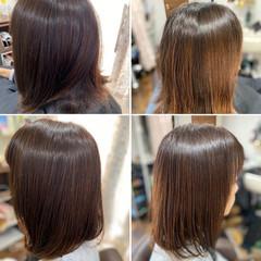 ミディアム 髪質改善トリートメント 髪質改善 韓国ヘア ヘアスタイルや髪型の写真・画像