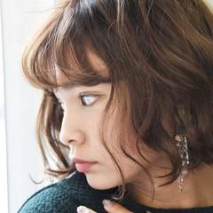 アンニュイ 外国人風 ボブ パーマ ヘアスタイルや髪型の写真・画像