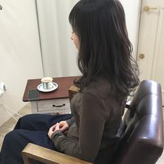 アンニュイ セミロング 外国人風カラー ゆるふわ ヘアスタイルや髪型の写真・画像
