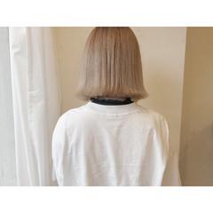 ミニボブ ミルクティーアッシュ ミルクティーベージュ ミルクティーグレージュ ヘアスタイルや髪型の写真・画像