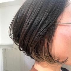 ボブ シンプルボブ 外国人風カラー 透明感カラー ヘアスタイルや髪型の写真・画像
