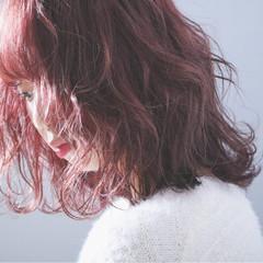 ウェーブ 外国人風 ボブ ヘアアレンジ ヘアスタイルや髪型の写真・画像