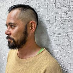 ストリート メンズヘア フェードカット ショート ヘアスタイルや髪型の写真・画像