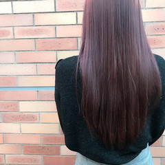 フェミニン ダブルカラー ピンク ロング ヘアスタイルや髪型の写真・画像