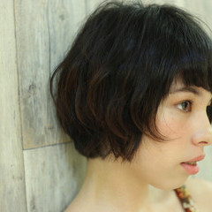 モード ショート 大人女子 ボブ ヘアスタイルや髪型の写真・画像