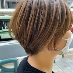大人ショート ミニボブ ショート ハンサムショート ヘアスタイルや髪型の写真・画像