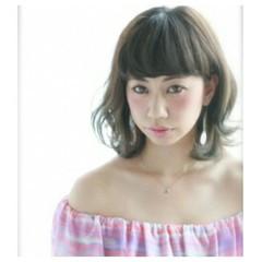 ゆるふわ ミディアム ガーリー 外国人風 ヘアスタイルや髪型の写真・画像