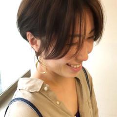 うざバング 大人かわいい ショートヘア ベリーショート ヘアスタイルや髪型の写真・画像