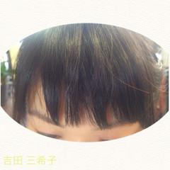 前髪パッツン ショートバング 前髪あり ショート ヘアスタイルや髪型の写真・画像