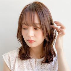 ミディアム デジタルパーマ ウルフカット 大人かわいい ヘアスタイルや髪型の写真・画像