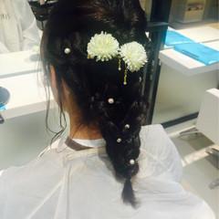 謝恩会 フェミニン ロング 結婚式 ヘアスタイルや髪型の写真・画像