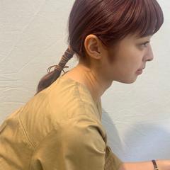 簡単ヘアアレンジ 紐アレンジ ヘアアレンジ ガーリー ヘアスタイルや髪型の写真・画像