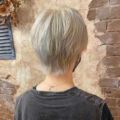 ハンサムショート ショート ブリーチカラー ベリーショート ヘアスタイルや髪型の写真・画像