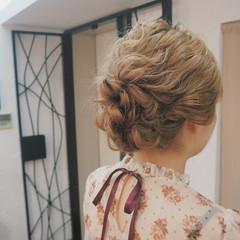ヘアアレンジ 波ウェーブ ミディアム 外国人風 ヘアスタイルや髪型の写真・画像