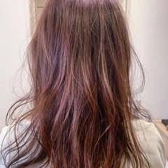 ピンクブラウン ピンクベージュ 大人可愛い フェミニン ヘアスタイルや髪型の写真・画像