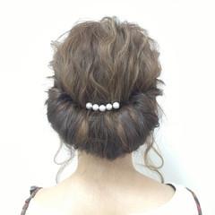 大人かわいい モテ髪 ヘアアレンジ 波ウェーブ ヘアスタイルや髪型の写真・画像