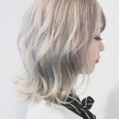 アッシュ ホワイトアッシュ ホワイトカラー ストリート ヘアスタイルや髪型の写真・画像