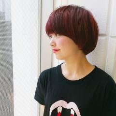 ガーリー ショート ストリート マッシュ ヘアスタイルや髪型の写真・画像