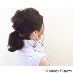 ポニーテール 大人かわいい 色気 簡単 ヘアスタイルや髪型の写真・画像