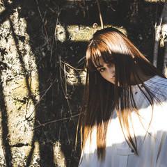ロング ヌーディベージュ 大人ハイライト ストリート ヘアスタイルや髪型の写真・画像
