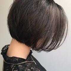 暗髪 オフィス ボブ モード ヘアスタイルや髪型の写真・画像