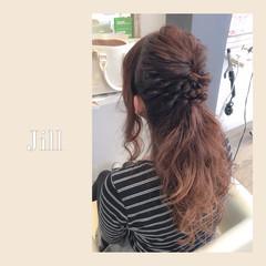 ハーフアップ アッシュ 大人かわいい ロング ヘアスタイルや髪型の写真・画像