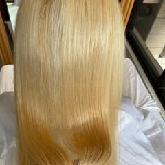 ロング ブリーチカラー ブリーチ必須 ナチュラル ヘアスタイルや髪型の写真・画像