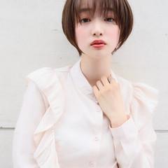 大人ショート 外国人風カラー ショート ショートボブ ヘアスタイルや髪型の写真・画像