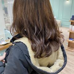 無造作パーマ セミロング モテ髪 ゆるふわ ヘアスタイルや髪型の写真・画像