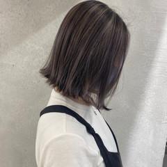 3Dハイライト ハイライト ミニボブ 切りっぱなしボブ ヘアスタイルや髪型の写真・画像