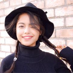 ショート ロング 外国人風 簡単ヘアアレンジ ヘアスタイルや髪型の写真・画像