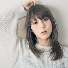 ミディアム 大人かわいい アッシュ 外国人風 ヘアスタイルや髪型の写真・画像