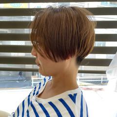 大人かわいい ショートボブ 小顔ショート モード ヘアスタイルや髪型の写真・画像