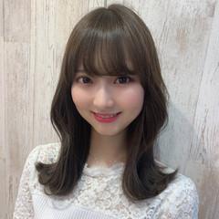 ひし形シルエット 韓国ヘア ミディアム 大人可愛い ヘアスタイルや髪型の写真・画像