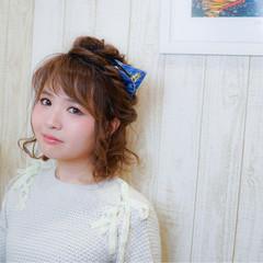 ヘアアレンジ コンサバ 簡単ヘアアレンジ ミディアム ヘアスタイルや髪型の写真・画像