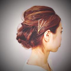 ヘアピン ゆるふわ ミディアム 大人かわいい ヘアスタイルや髪型の写真・画像