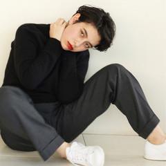 ナチュラル 黒髪 ショート 暗髪 ヘアスタイルや髪型の写真・画像