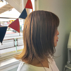 モード ボブ グレージュ イルミナカラー ヘアスタイルや髪型の写真・画像