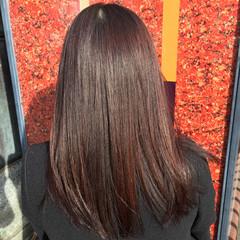 パーマ ガーリー くせ毛風 ストレート ヘアスタイルや髪型の写真・画像