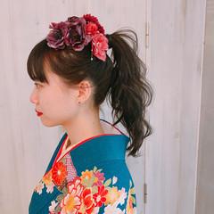 卒業式 ヘアアレンジ 和装ヘア ポニーテール ヘアスタイルや髪型の写真・画像