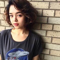 外国人風 ラフ ストリート センターパート ヘアスタイルや髪型の写真・画像