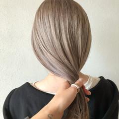 ハイトーンカラー ストリート セミロング ハイトーン ヘアスタイルや髪型の写真・画像