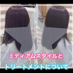 髪質改善トリートメント ミディアム うる艶カラー 大人ロング ヘアスタイルや髪型の写真・画像