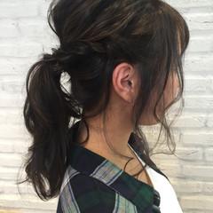 大人女子 セミロング フェミニン ヘアアレンジ ヘアスタイルや髪型の写真・画像