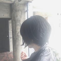 似合わせ 簡単 黒髪 ショート ヘアスタイルや髪型の写真・画像