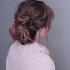 ラフ ヘアアレンジ 大人かわいい フェミニン ヘアスタイルや髪型の写真・画像