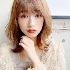 表参道 ひし形シルエット フェミニン ゆるふわ ヘアスタイルや髪型の写真・画像