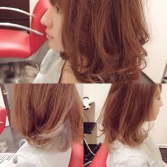 グラデーションカラー ミディアム アッシュ ガーリー ヘアスタイルや髪型の写真・画像